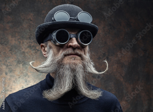 Portrait of a bearded man in with sunglasses Canvas Print