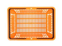 Plastic Shopping Basket On Whi...