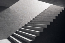 Concrete Stairs In Interior