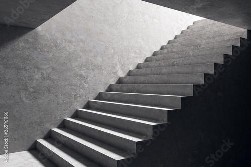 Fotografija Concrete stairs in interior