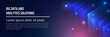 Big Data And Analytics Solutions - Web Banner Template.