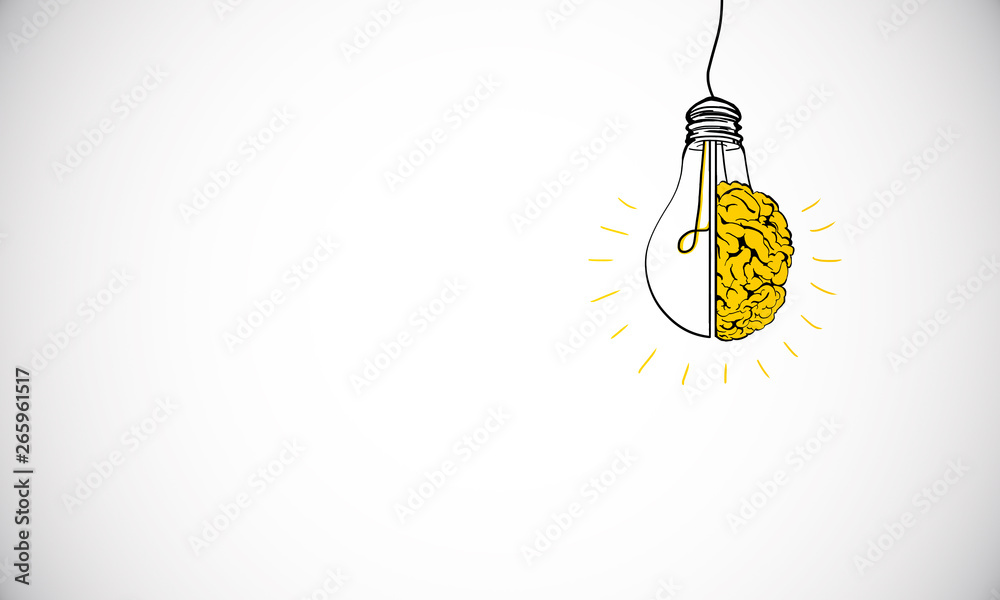 Fototapeta Idea and brainstorm wallpaper