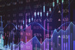 canvas print picture - Purple forex chart backdrop