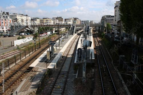 Courbevoie - Gare de Bécon-les-Bruyères Canvas Print