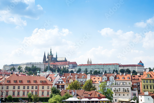 Foto auf Leinwand Toskana Prague, Bohemia, Czech Republic. Hradcany is the Praha Castle with churches, chapels, halls and towers from every period of its history.