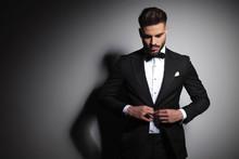 Caucasian Man In Black Tuxedo ...