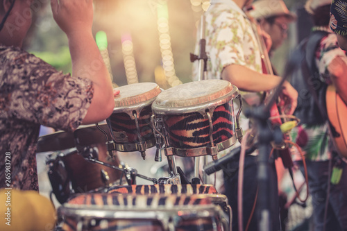 man playing percussion musical instrument Wallpaper Mural