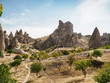 The cave city of Cappadocia, Turkey, which is a unique attraction for tourists visiting Turkey.