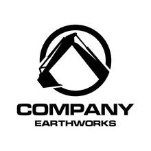 Earthworks Logo Concept Black And White
