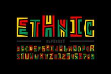 Ethnic Style Font Design, Alph...