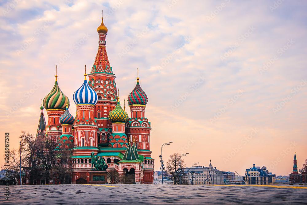 Fototapety, obrazy: Basilius Kathedrale in Moskau, Russland