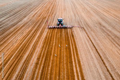 Fototapeta Spring agricultural work