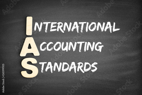 Obraz na plátne  Wooden alphabets building the word IAS - International Accounting Standards acro