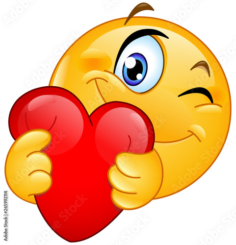 Fototapeta  emoticon hugging heart