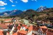 canvas print picture - Der Lech durch Füssen im Allgäu Bayern Deutschland