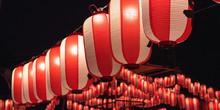 Japanese Red Festival Lanterns...