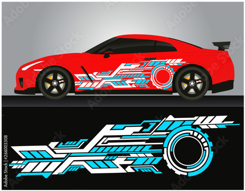 Vinyls Sticker Decals For Body Red Car Truck Mini Bus Modify Motorcycle Racing Drift Vehicle Graphics Kit Isolated Vector Design Race Elegant Stripes Modern Concept Liberty Walk Background For Wrap Buy