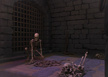 A Creepy Dungeon With A Threa...