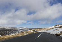 Dramatic Winding Road And Rolling Hills - Landscape Scenery From Buttertubs Pass, Yorkshire Dales