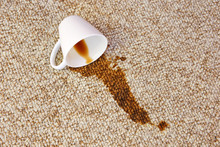 Cup Of Coffee Fell On Carpet. ...