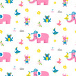 Cute animals pattern for kid textile and nursery designs.