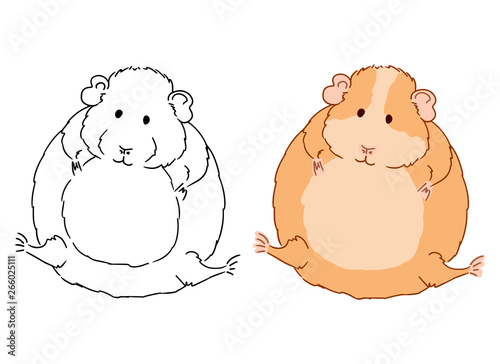 Guinea Pigs Colouring Sheets - Kids Puzzles and Games | 364x500