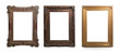Set of Decorative vintage frames and borders, Clipping Path included