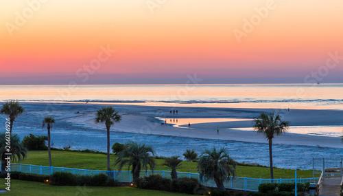 Fotografía A beautiful sunrise off the coast of St Simons Island in Georgia