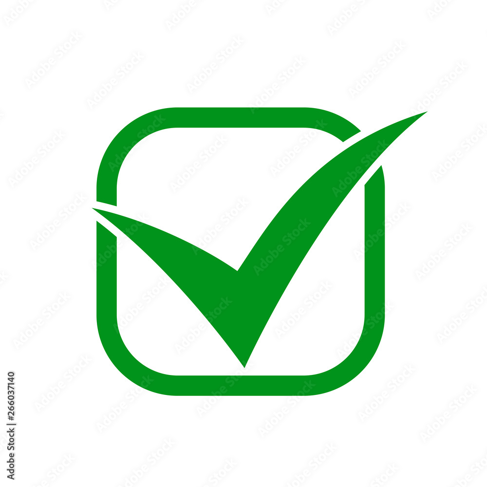 Fototapety, obrazy: Approval check icon isolated, quality sign – vector for stock
