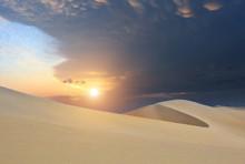 Peru, Scenic Huacachina Desert Hills And Dunes