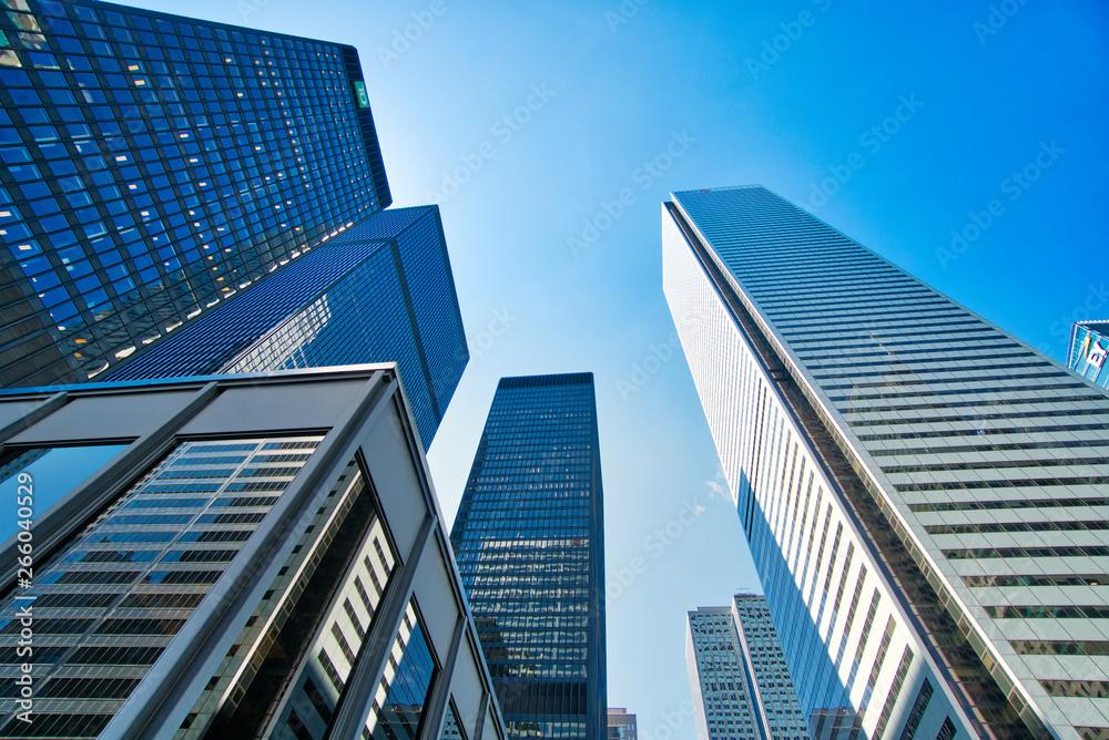 Fototapety, obrazy: Toronto, Ontario, Canada-5 April, 2019: Scenic Toronto financial district skyline and modern architecture
