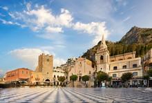 Italy. Taormina, Panoramic Vie...