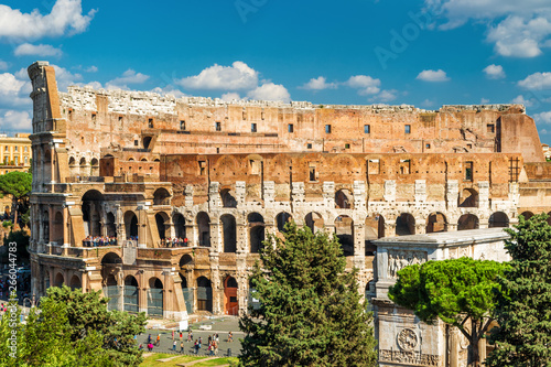 Photo  Colosseum or Coliseum close-up, Rome, Italy