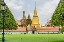 Wat Phra Kaew, The Temple Of The Emerald Buddha, In The Grand Palace In Bangkok