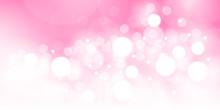 ピンクの玉ボケのベクター素材