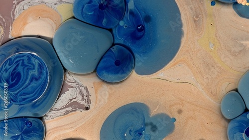 brown yellow blue earth striking paint abstract