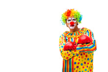 Male Clown Isolated On White