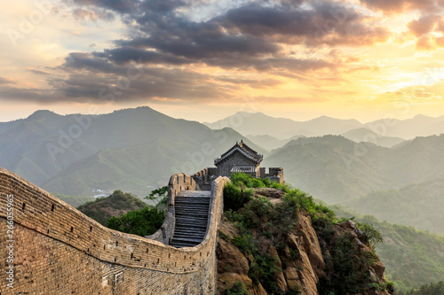 Muraille de Chine The Great Wall of China at sunset
