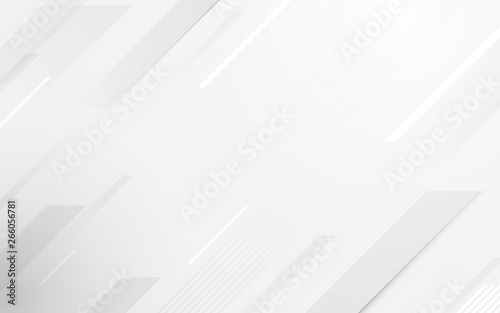 Abstract geometric white and gray color elegant background. vector illustration