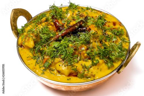 Kadhi Pakoda or pakora, Indian cuisine, selective focus Fototapeta