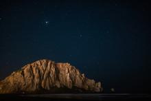 Morro Rock At Night