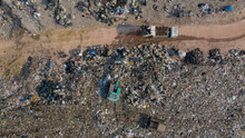 Aerial View Tons Of Plastic Wa...