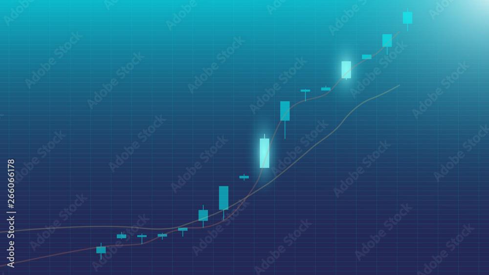 Fototapety, obrazy: Trading Chart (Rises)
