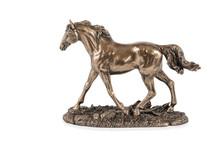 Bronze Statuette Of A Running Horse