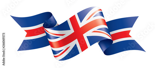 United Kingdom flag, vector illustration on a white background Wallpaper Mural