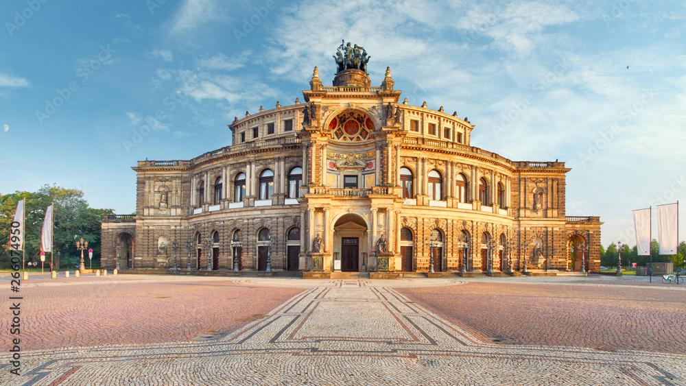 Fototapeta Dresden - Semperoper, Germany