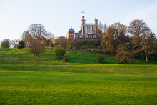 London The Royal Observatory On The Hill At Greenwich Mean Time.