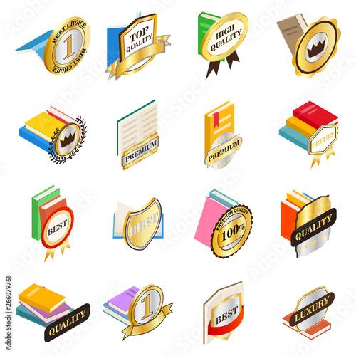 Excellent book icons set Tableau sur Toile