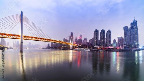 Poster Tokyo Chongqing, China, city river view