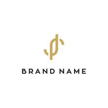 JR Monogram Letter Logo Design